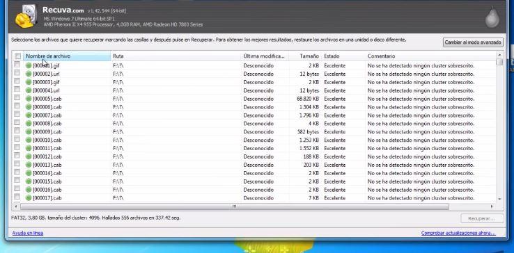 Recuperar datos de un USB dañado